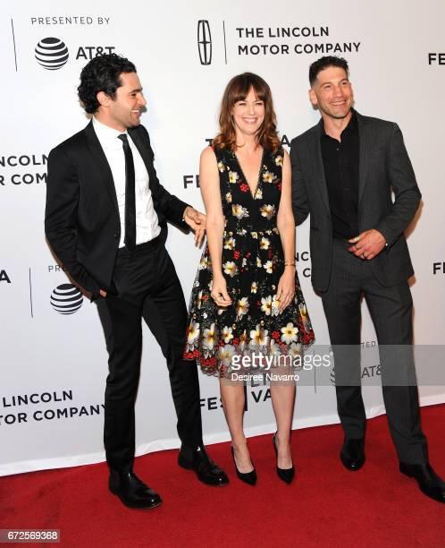Christopher Abbott Rosemarie DeWitt and Jon Bernthal attend 2017 Tribeca Film Festival 'Sweet Virginia' at Cinepolis Chelsea on April 21 2017 in New...