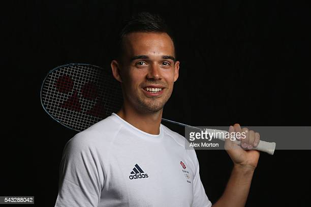 Christopher Adcock of Team GB during the Announcement of Badminton Athletes Named in Team GB for the Rio 2016 Olympic Games at the National Badminton...
