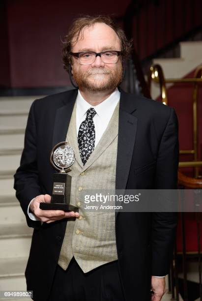 Christopher Akerlind winner of the award for Best Lighting Design of a Play 'Indecent' poses in the press room during the 2017 Tony Awards at 3 West...