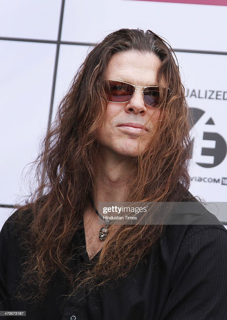 Christopher Alan Broderick, lead and rhythm guitarist of the American heavy metal band Megadeth during an exclusive interview with Hindustan Times on February 15, 2014 at Hotel Crown Plaza in Greater Noida, India.