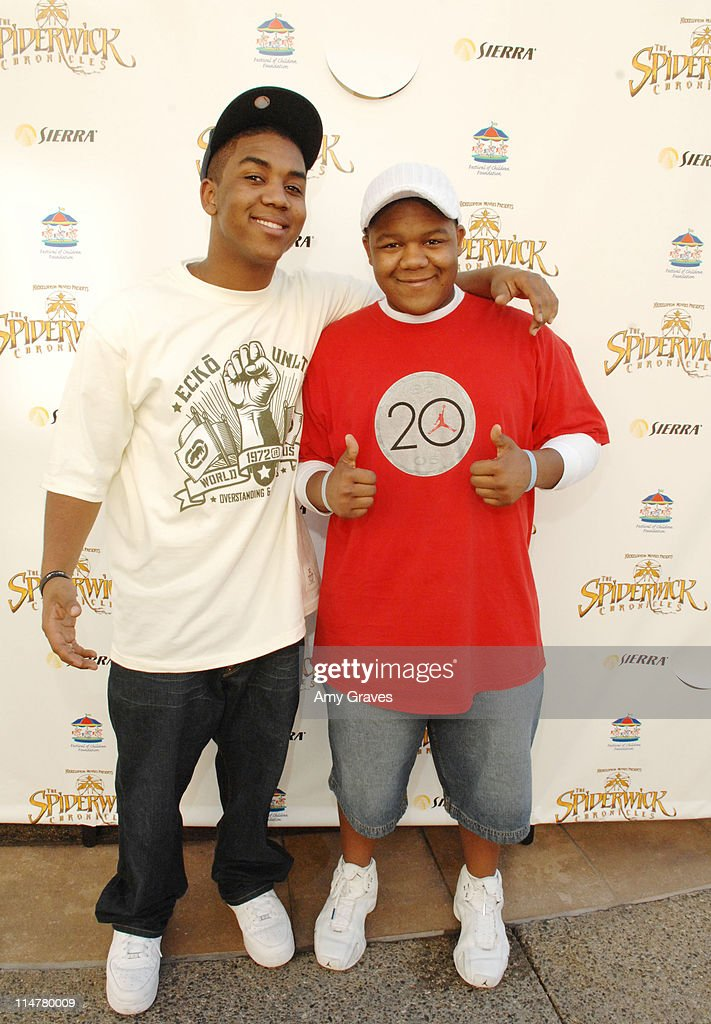 Christopher and Kyle Massey attend the Official Spiderwick Videogame Launch at the Paramount Theater on February 10 2008 in Los Angeles California