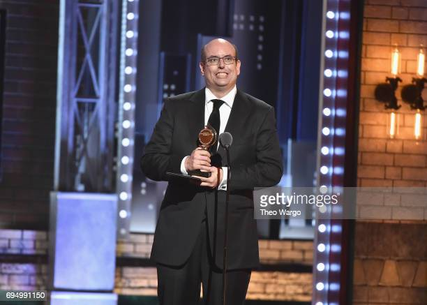 "Christopher Ashley accepts the award for Best Direction of a Musical for ""Come From Away"" onstage during the 2017 Tony Awards at Radio City Music..."