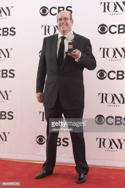 "Christopher Ashley winner of the award for Best Direction of a Musical for ""Come From Away"" poses in the press room during the 2017 Tony Awards at 3..."