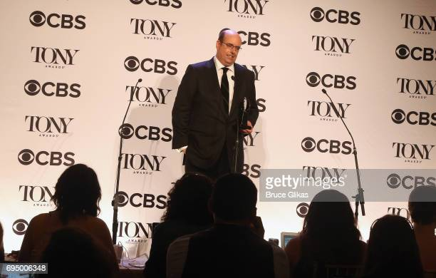 """Christopher Ashley winner of the award for Best Direction of a Musical for """"Come From Away"""" poses in the press room during the 2017 Tony Awards at 3..."""