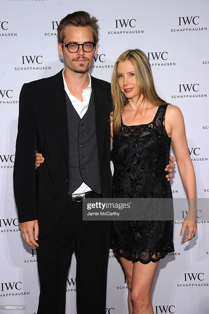 Christopher Backus, and Mira Sorvino attend IWC and Tribeca Film Festival Celebrate 'For the Love of Cinema' on April 18, 2013 in New York City.
