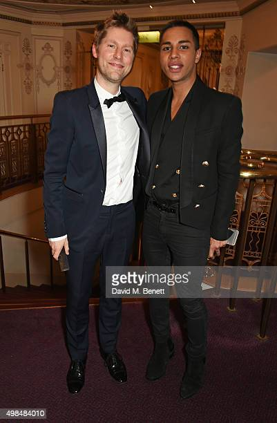 Christopher Bailey accepting The Creative Campaign award on behalf of Burberry and Olivier Rousteing attend the British Fashion Awards in partnership...