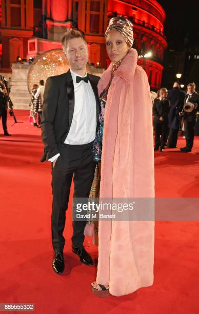 Christopher Bailey and Adwoa Aboah attend The Fashion Awards 2017 in partnership with Swarovski at Royal Albert Hall on December 4 2017 in London...