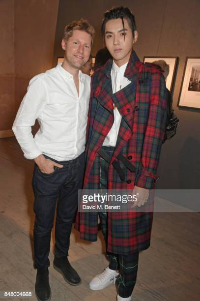 Christopher Bailey and Kris Wu wearing Burberry at the Burberry September 2017 at London Fashion Week at The Old Sessions House on September 16 2017...