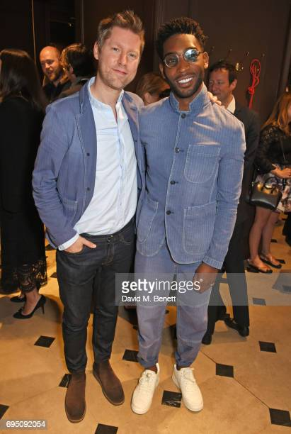Christopher Bailey and Tinie Tempah attend a breakfast hosted by Christopher Bailey Dame Natalie Massenet and Dylan Jones in celebration of London...