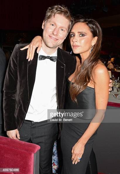 Christopher Bailey and Victoria Beckham attend an after party following the 60th London Evening Standard Theatre Awards at the London Palladium on...