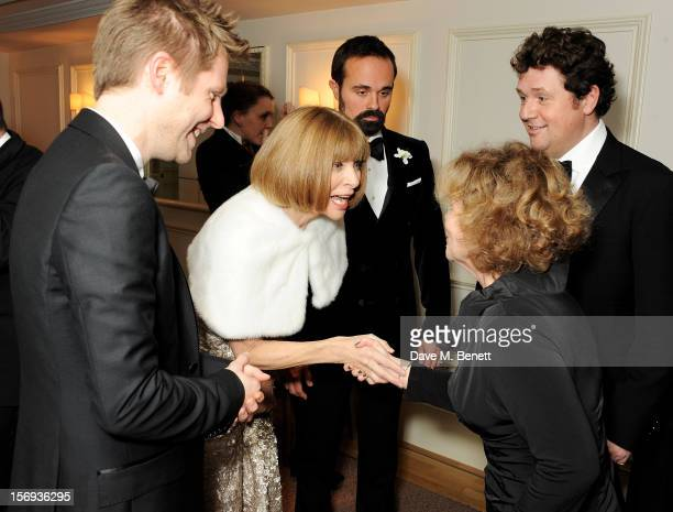Christopher Bailey Anna Wintour Evgeny Lebedev Imelda Staunton and Michael Ball attend a drinks reception at the 58th London Evening Standard Theatre...