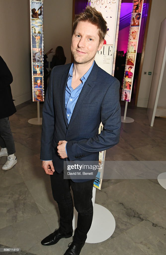 <a gi-track='captionPersonalityLinkClicked' href=/galleries/search?phrase=Christopher+Bailey&family=editorial&specificpeople=587505 ng-click='$event.stopPropagation()'>Christopher Bailey</a> attends a private view of 'Vogue 100: A Century of Style' hosted by Alexandra Shulman and Leon Max at the National Portrait Gallery on February 9, 2016 in London, England.