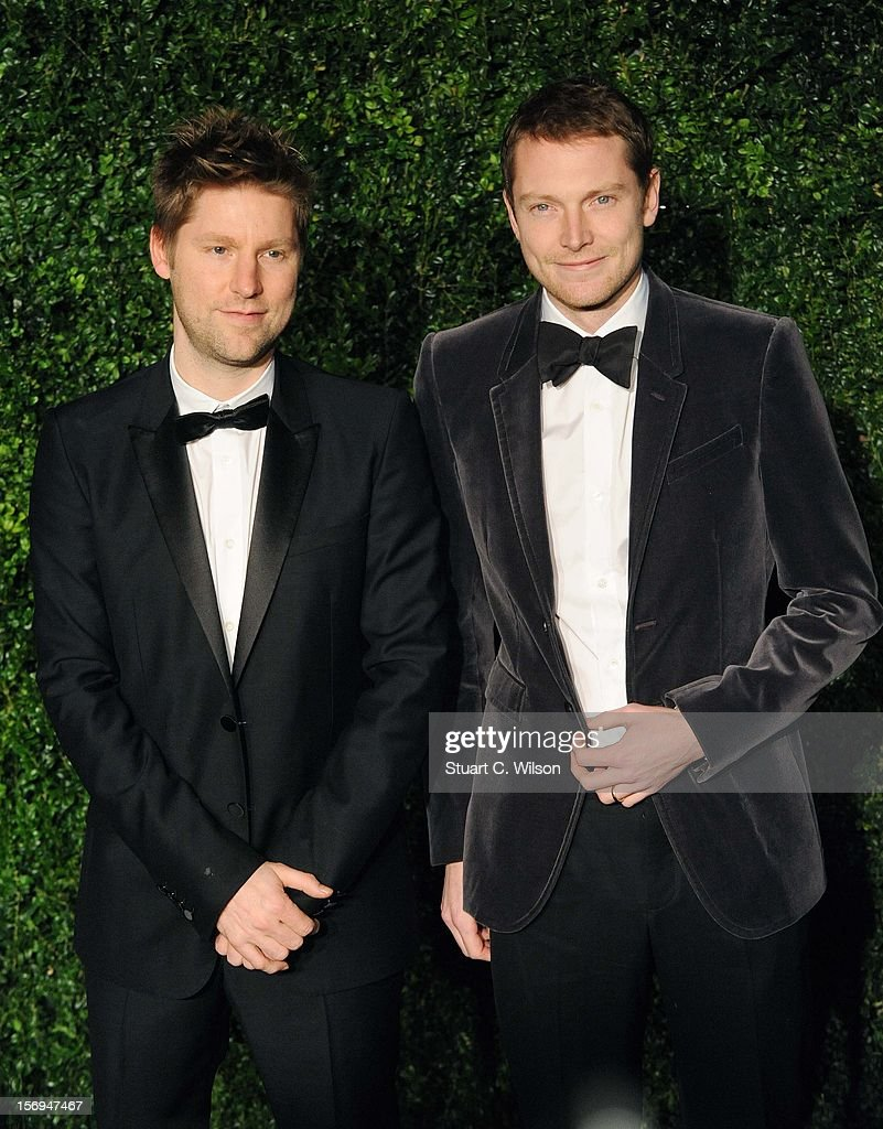 Christopher Bailey (L) attends the 58th London Evening Standard Theatre Awards in association with Burberry on November 25, 2012 in London, England.