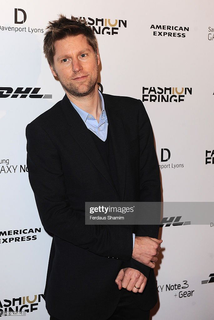 <a gi-track='captionPersonalityLinkClicked' href=/galleries/search?phrase=Christopher+Bailey&family=editorial&specificpeople=587505 ng-click='$event.stopPropagation()'>Christopher Bailey</a> attends the Fashion Fringe 10th anniversary party at the London Film Museum on December 3, 2013 in London, England.