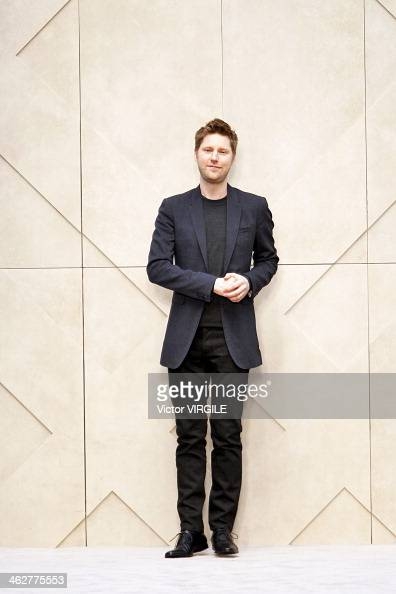 Christopher Bailey walks the runway at the Burberry AW14 Menswear Fall/Winter 20142015 show at Kensington Gardens on January 8 2014 in London England
