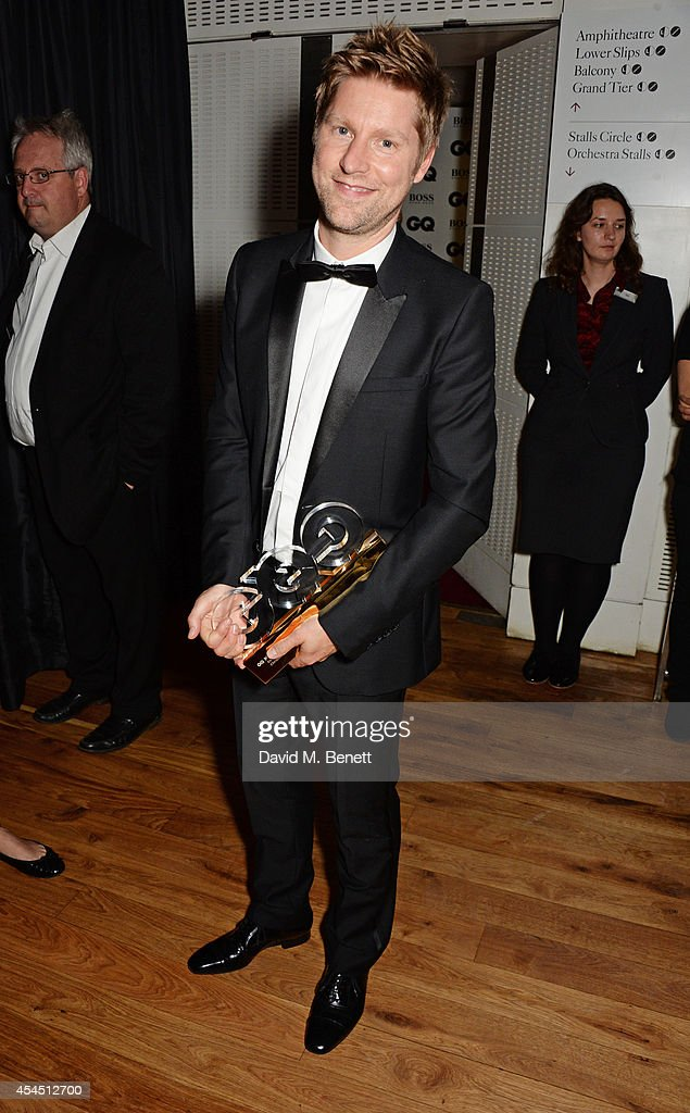 Christopher Bailey winner of the Designer of the Year award attends the GQ Men Of The Year awards in association with Hugo Boss at The Royal Opera...
