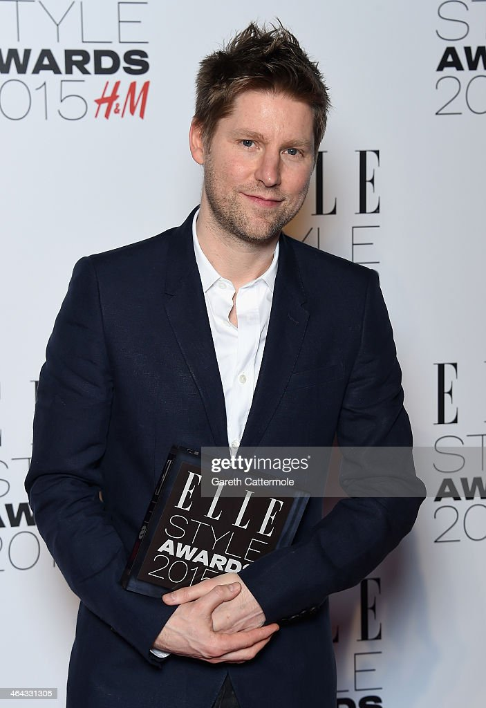 Christopher Bailey with his Editor's Choice award during the Elle Style Awards 2015 at Sky Garden @ The Walkie Talkie Tower on February 24 2015 in...