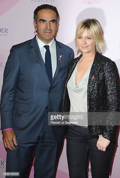 Christopher Baldelli President of RTL and Flavie Flament attend the '20 Ans Du Ruban Rose' event organized by Estee Lauder during Breast Cancer...