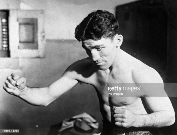 Christopher Battaglia aka 'Battling Battalino' seen in a New York gym in 1930 he boxed in the featherweight division