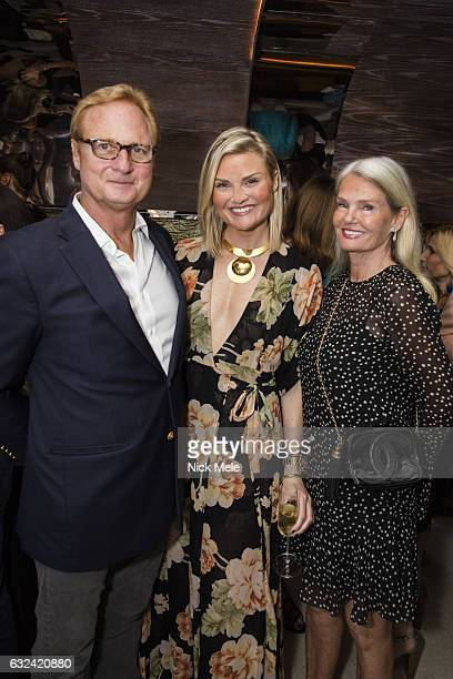 Christopher Bickford Lizzi Bickford and Betsy Berry attend AVENUE Celebrates Kara Ross and the Palm Beach A List at Meat Market Palm Beach on January...