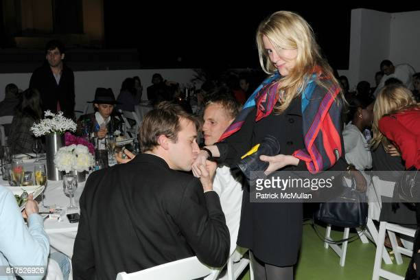 Christopher Bollen and Amy Greenspon attend INTERVIEW LVMH FENDI Art Basel Dinner at Solarium on December 2 2010 in Miami Florida