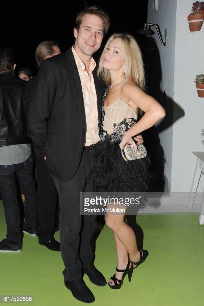 Christopher Bollen and Brooke Geahan attend INTERVIEW LVMH FENDI Art Basel Dinner at Solarium on December 2 2010 in Miami Florida