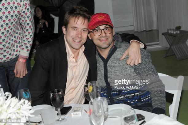 Christopher Bollen and Elad Lassry attend INTERVIEW LVMH FENDI Art Basel Dinner at Solarium on December 2 2010 in Miami Florida