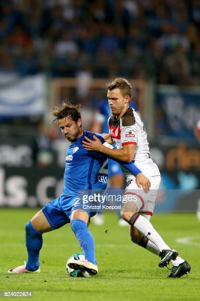 Christopher Buchtmann of St Pauli challenges Stefano Celozzi of Bochum during the Second Bundesliga match between VfL Bochum 1848 and FC St Pauli at...