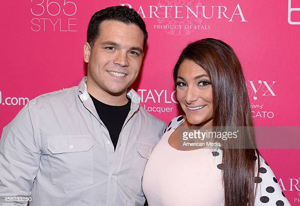 Christopher Buckner and Deena Nicole Cortese attend the OK Fashion Week Event 2014 on September 10 2014 in New York City