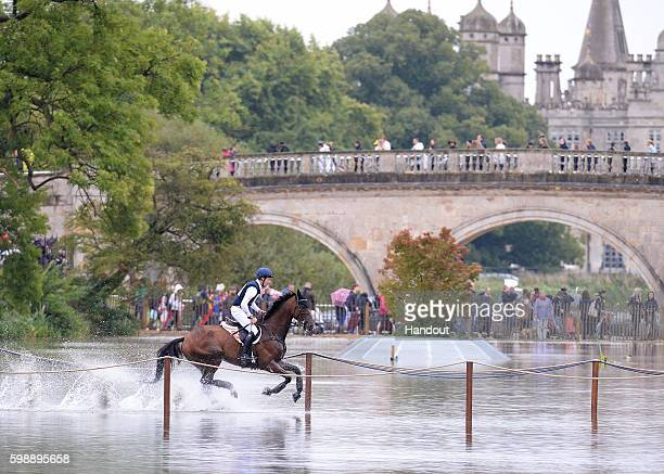 Christopher Burton of Australia riding Nobilis 18 during the Cross Country during The Land Rover Burghley Horse Trials 2016 on September 3 2015 in...