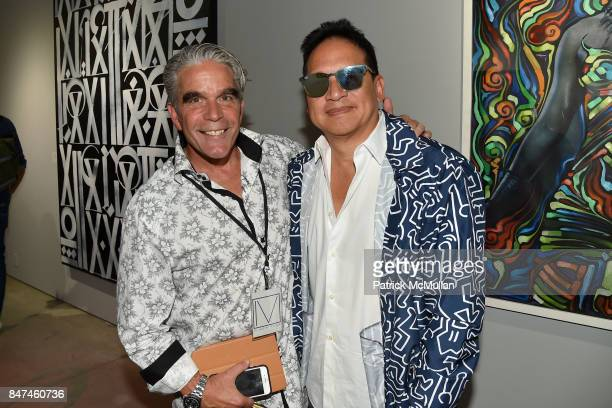 Christopher Busey and Robert Kantor attend IV New York Gallery Grand Opening Exhibition on September 14 2017 in New York City