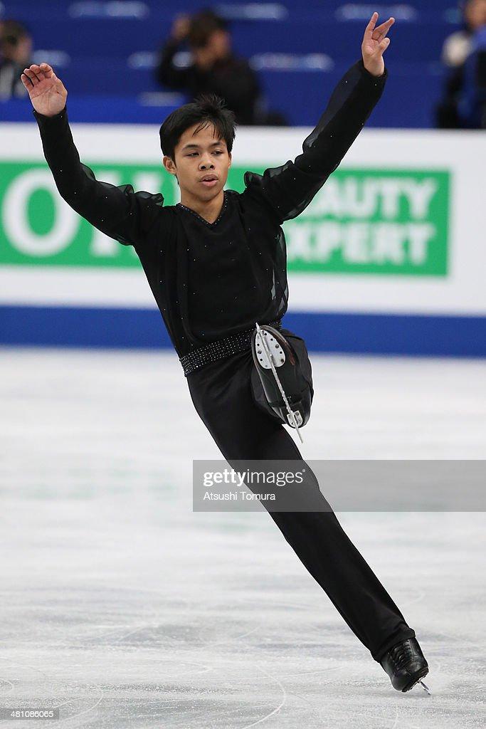Christopher Caluza of Philippines competes in the Men's Free Skating during ISU World Figure Skating Championships at Saitama Super Arena on March 28, 2014 in Saitama, Japan.