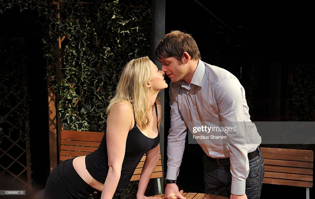 Christopher Coghill and Siobhan Hewlett promote Alan Ayckbourn's comedy 'Drowning On Dry Land ' at Jermyn Street Theatre on February 23 2011 in...