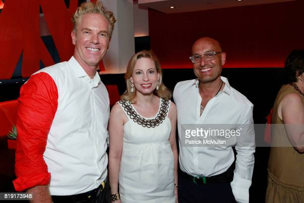 Christopher Coleman Gillian Miniter and Angel Sanchez attend NUELA Tasting Hosted By ANGEL SANCHEZ And CHRISTOPHER COLEMAN at NUELA on July 20 2010...