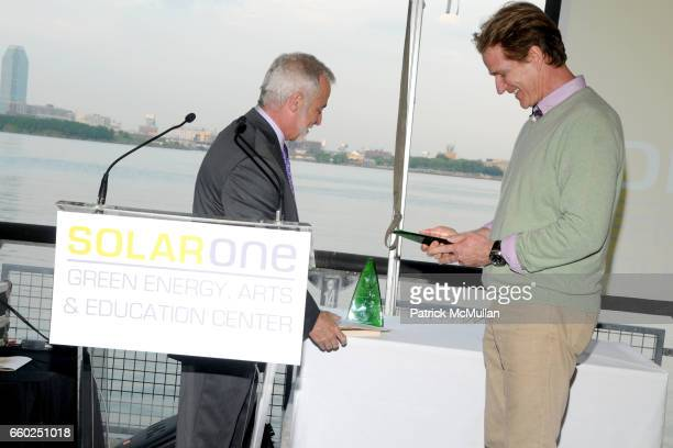 Christopher Collins and Matthew Modine attend SOLAR 1's Revelry By The River Honors MATTHEW MODINE KICK KENNEDY HSBC at Stuyvesant Cove on June 2...