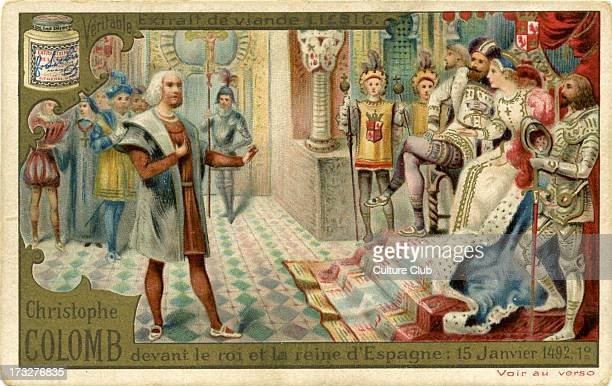 Christopher Columbus before audience of Ferdinand II of Aragon and Isabella I of Castile 15 January 1492 Columbus sought patronage for his first...