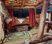 Christopher Columbus' cabin on the Santa Maria painting by Heliodoro Guillen Pedemonte Madrid Museo Naval