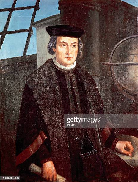 Christopher Columbus Explorer navigator and colonizer Discoverer of American Portrait of Jose Roldan Monastery of La Rabida Andalusia Spain