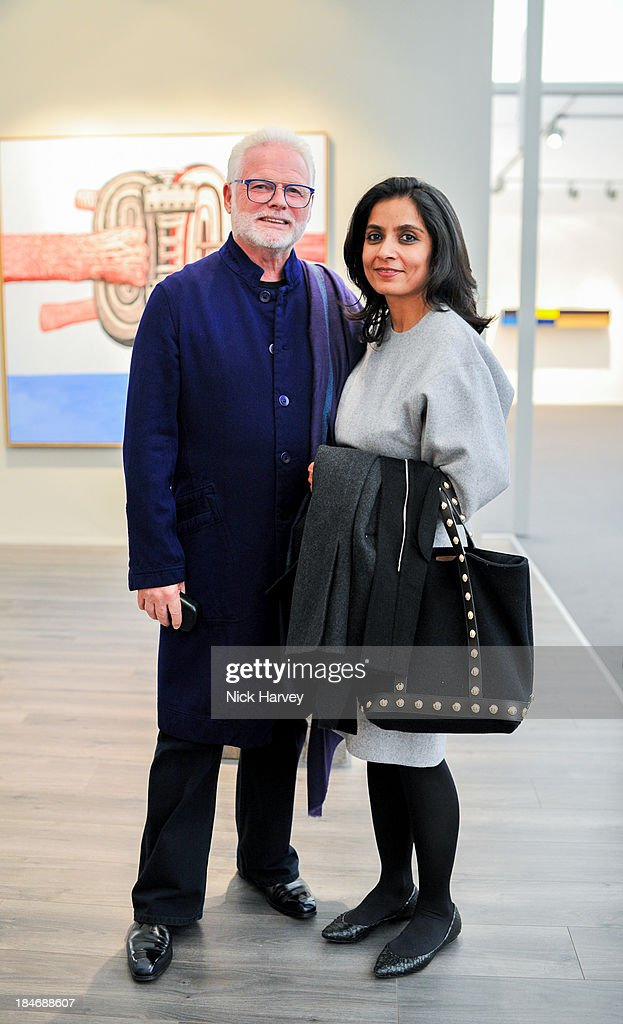 Christopher Davidge and Amrita Jhaveri attend the private view for Frieze Masters on October 15, 2013 in London, England.