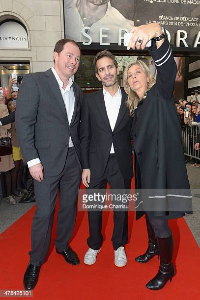 Christopher de Lapuente Marc Jacobs and MarieChristine Marchives attend the 'Marc Jacobs Beauty' make up line Presentation at Sephora ChampsElysees...