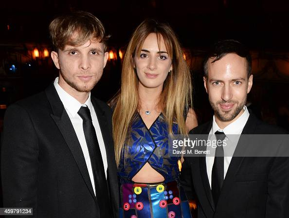 Christopher de Vos Alexia Niedzielski and Peter Pilotto attend a drinks reception at the British Fashion Awards at the London Coliseum on December 1...