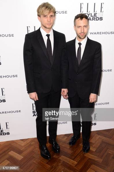 Christopher de Vos and Peter Pilotto attends the Elle Style Awards 2014 at one Embankment on February 18 2014 in London England>>