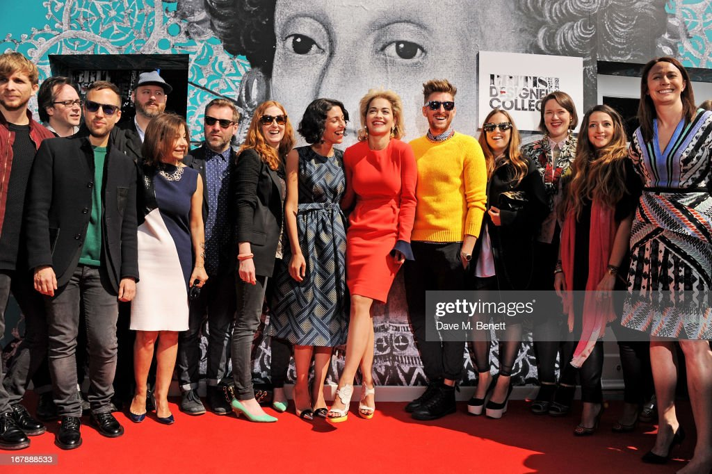 Christopher de Vos, Piers Atkinson, Peter Pilotto, Noel Stewart, Desiree Bollier, Justin Thornton, Thea Bregazzi, Yasmin Sewell, <a gi-track='captionPersonalityLinkClicked' href=/galleries/search?phrase=Rita+Ora&family=editorial&specificpeople=5686485 ng-click='$event.stopPropagation()'>Rita Ora</a>, <a gi-track='captionPersonalityLinkClicked' href=/galleries/search?phrase=Henry+Holland+-+Fashion+Designer&family=editorial&specificpeople=1637233 ng-click='$event.stopPropagation()'>Henry Holland</a>, Imogen Belfield, Holly Fulton, Athena Procopiou and Caroline Rush attend as <a gi-track='captionPersonalityLinkClicked' href=/galleries/search?phrase=Rita+Ora&family=editorial&specificpeople=5686485 ng-click='$event.stopPropagation()'>Rita Ora</a> launches the British Designers' Collection at Bicester Village on May 2, 2013 in Bicester, England.