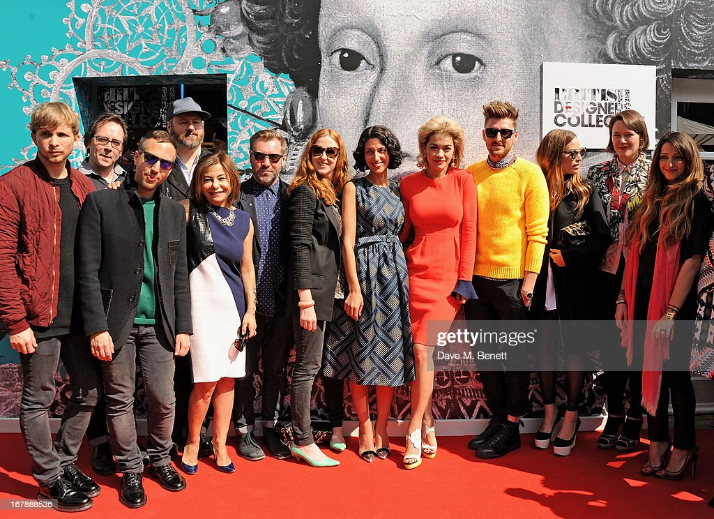 Christopher de Vos, Piers Atkinson, Peter Pilotto, Noel Stewart, Desiree Bollier, Justin Thornton, Thea Bregazzi, Yasmin Sewell, <a gi-track='captionPersonalityLinkClicked' href=/galleries/search?phrase=Rita+Ora&family=editorial&specificpeople=5686485 ng-click='$event.stopPropagation()'>Rita Ora</a>, <a gi-track='captionPersonalityLinkClicked' href=/galleries/search?phrase=Henry+Holland+-+Fashion+Designer&family=editorial&specificpeople=1637233 ng-click='$event.stopPropagation()'>Henry Holland</a>, Imogen Belfield, Holly Fulton and Athena Procopiou attend as <a gi-track='captionPersonalityLinkClicked' href=/galleries/search?phrase=Rita+Ora&family=editorial&specificpeople=5686485 ng-click='$event.stopPropagation()'>Rita Ora</a> launches the British Designers' Collection at Bicester Village on May 2, 2013 in Bicester, England.