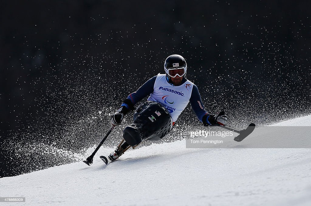 Christopher Devlin-Young of the United States competes in the Men's Giant Slalom Sitting during day eight of the Sochi 2014 Paralympic Winter Games at Rosa Khutor Alpine Center on March 15, 2014 in Sochi, Russia.