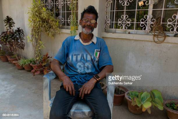 MCCLUSKIEGUNJ RANCHI JHARKHAND INDIA Christopher Dominic D'Costa one of the AngloIndians living at McCluskiegunj poses for a portrait He has worked...