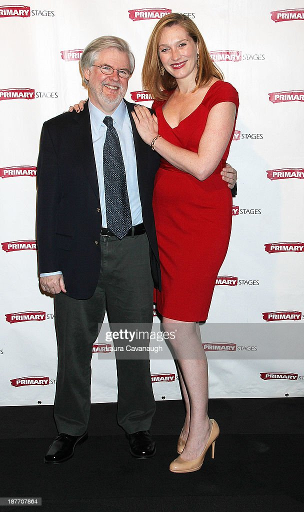 Christopher Durang and Kate Jennings Grant attend the 2013 Primary Stages Annual Gala at The Edison Ballroom on November 11, 2013 in New York City.