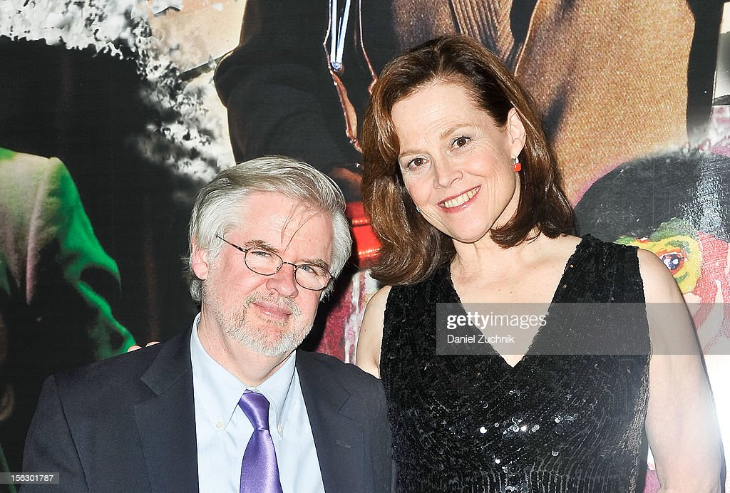 Christopher Durang and Sigourney Weaver attend the 'Vanya and Sonia and Masha and Spike,' press night at Mitzi E. Newhouse Theater on November 12, 2012 in New York City.