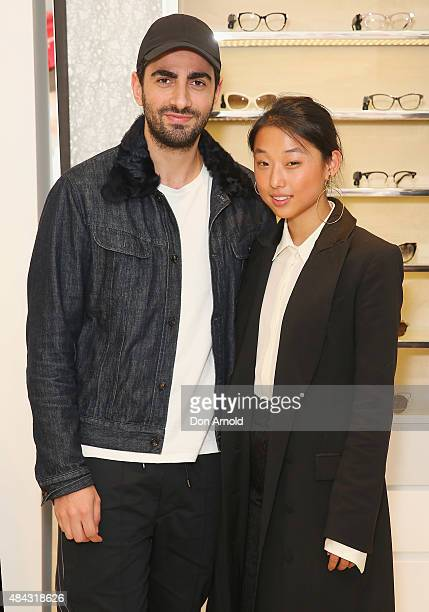 Christopher Esber and Margaret Zhang pose during the 10 10 Men Australia Autumn Winter 2015 issue launch on August 17 2015 in Sydney Australia
