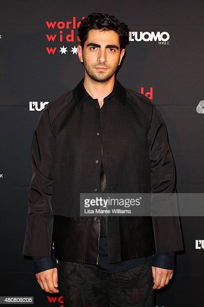 Christopher Esber arrives at the L'Uomo Vogue and Woolmark Company Gala and Exhibition to celebrate L'Uomo Vogue magazine's March Issue dedicated to...